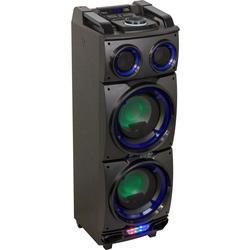 """IBIZA SOUND STANDUP208 ALTAVOZ PORTATIL A BATERIAS 2x8"""" 300W LED/USB/SD/BLUETOOTH/FM"""