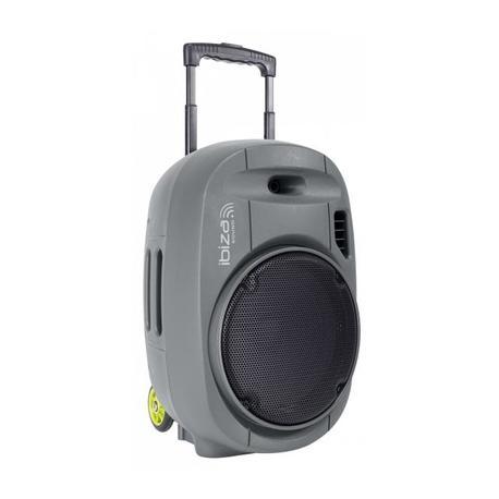 """IBIZA SOUND PORT12VHF-GR-MKII SISTEMA DE SONORIZACION PORTATIL AUTONOMO 12""""/30CM CON USB-MP3, VOX, BLUETOOTH, 2 MICROS VHF - GRI"""