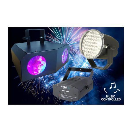 CONJUNTO DE ILUMINACION PARA DJS IBIZA LIGHT NIGHT+LIGHT