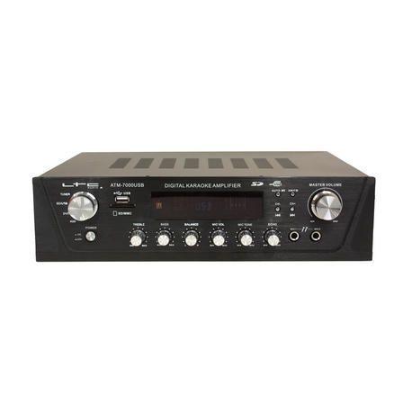AMPLIFICADOR LTC AUDIO ATM7000USB 2x50W RADIO/USB/SD/MMC/KARAOKE