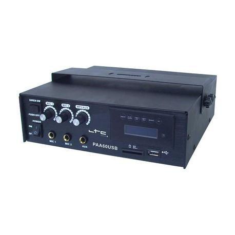 AMPLIFICADOR 12V LTC AUDIO PAA60USB 60W USB/SD/MP3