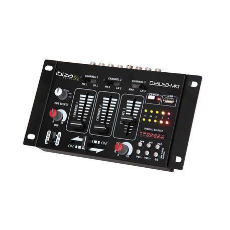 MESA DE MEZCLAS DJ IBIZA SOUND DJ21USB-MKII USB