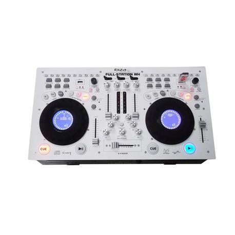 EQUIPO COMPACTO PARA DJ IBIZA SOUND FULL-STATION-WH CD/USB/SD