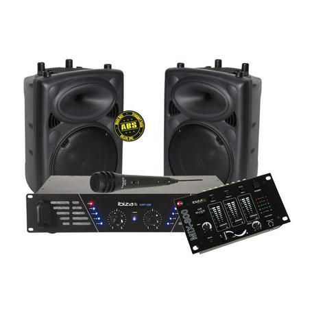 EQUIPO DE SONIDO COMPLETO IBIZA SOUND DJ300MKII 600W
