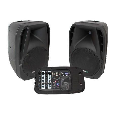 ALTAVOZ AUTOAMPLIFICADO IBIZA SOUND COMBO210 (PAREJA) USB/MP3/WMA/SD 300W