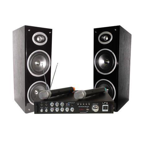EQUIPO PARA KARAOKE LTC AUDIO KARAOKE-STAR3-WM 2x40W USB 2xMICROS INALAMBRICOS