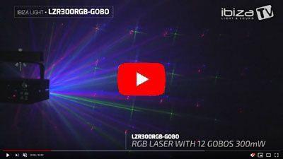 IBIZA LIGHT LZR300RGB-GOBO