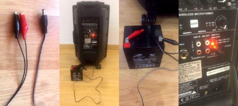 Cómo conectar una batería externa a un altavoz portátil
